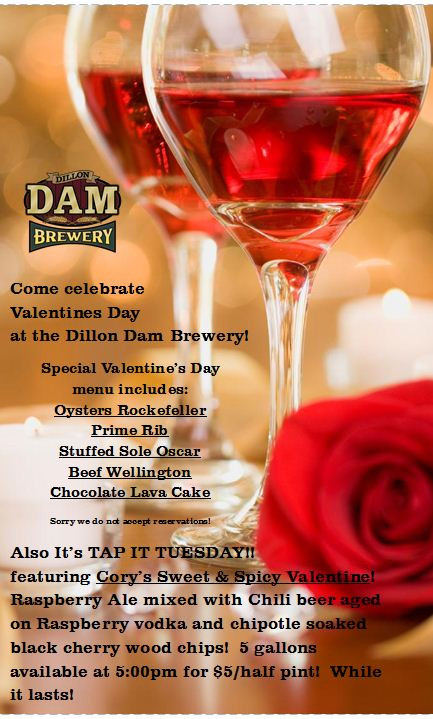 Valentine'S Day Dinner Specials  Valentine's Day Dinner Specials Dam Menu Also Served