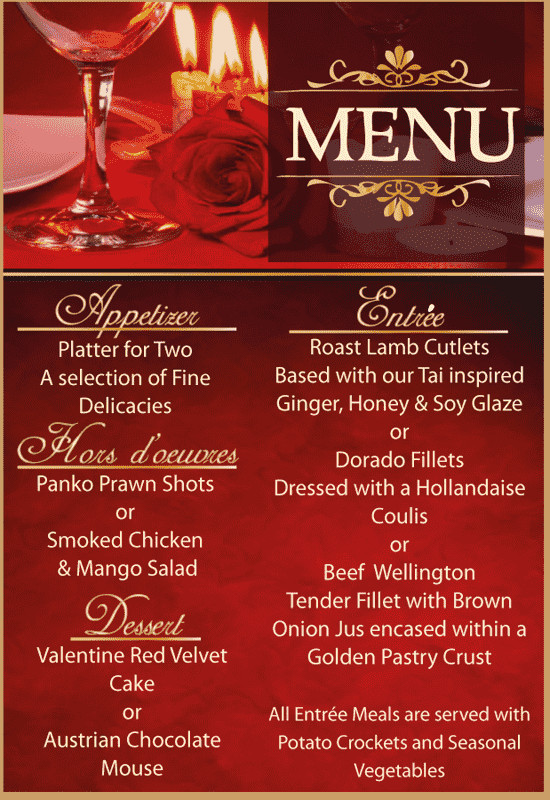 Valentine'S Day Dinner Specials  Hartbeespoort Special fers Discounts Deals and