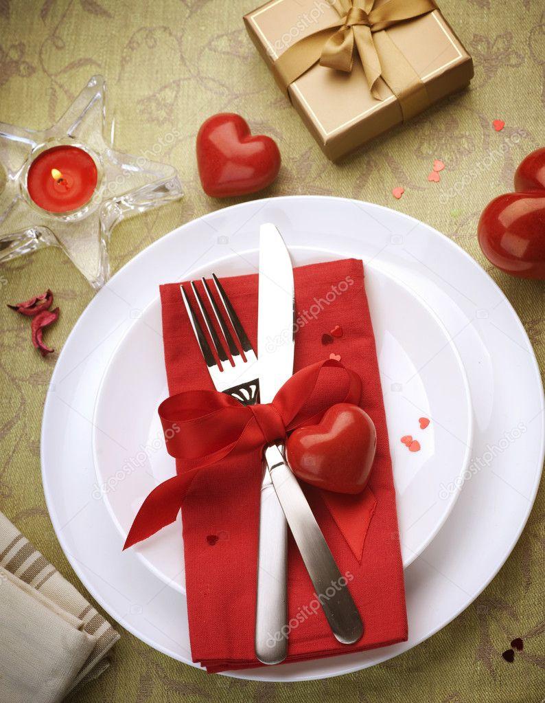 Valentine'S Day Dinner  Place Setting Valentine s Day Pinterest