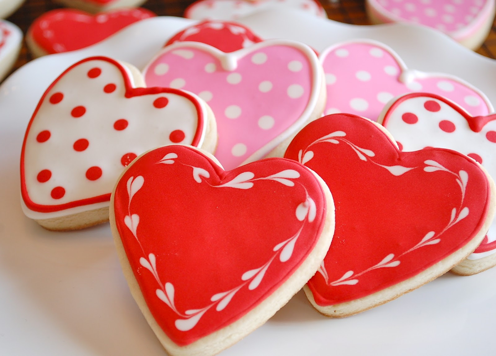 Valentines Day Cookies  Chef Mommy Valentine s Day Heart Sugar Cookies