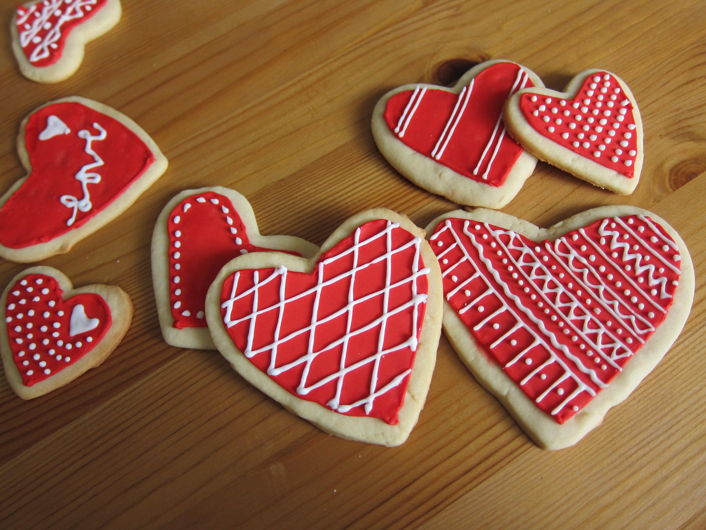 Valentines Day Cookies  Happy Valentine's Day Sugar Cookies