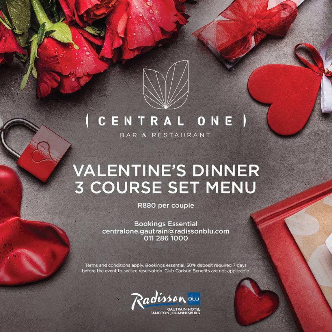 Valentines Day Dinner  Valentines Day Dinner at Central e Restaurant