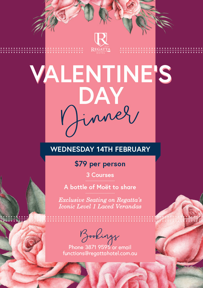 Valentines Day Dinner  Valentine s Day Dinner SOLD OUT Regatta Hotel