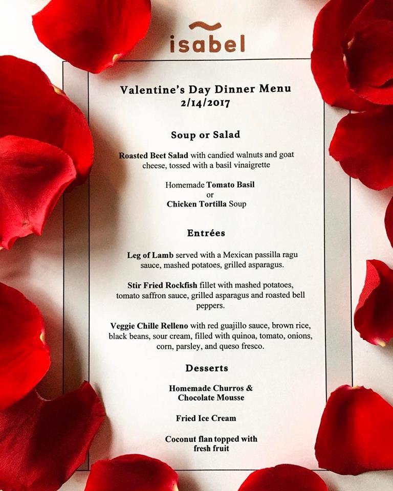 Valentines Dinner 2017  Valentine s Day Dinner 2017 Isabel Pearl