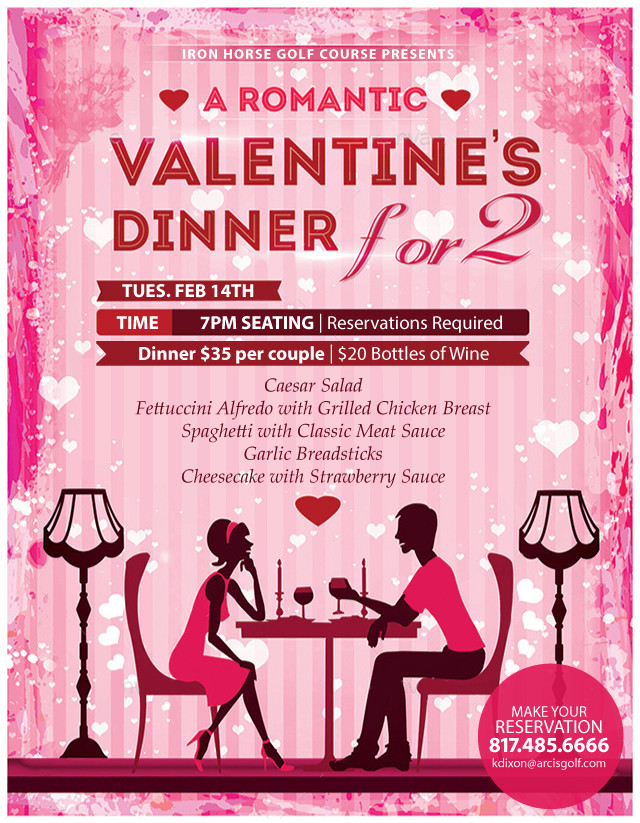 Valentines Dinner 2017  Valentines Dinner Iron Horse Golf Course