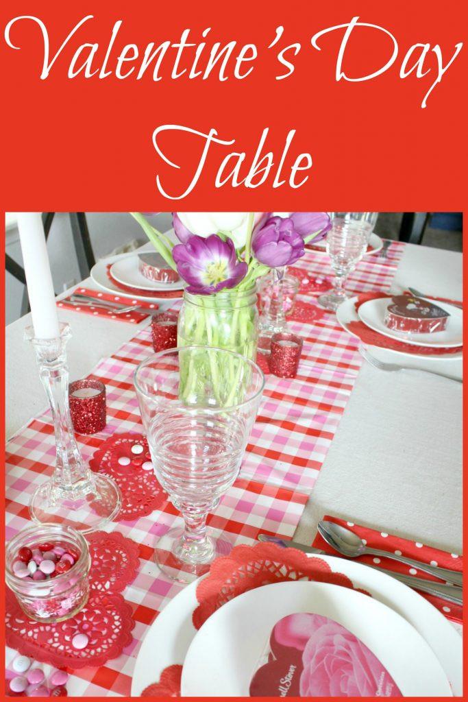 Valentines Dinner 2017  Valentine s Day Table for Family Dinner 2017 frazzled JOY