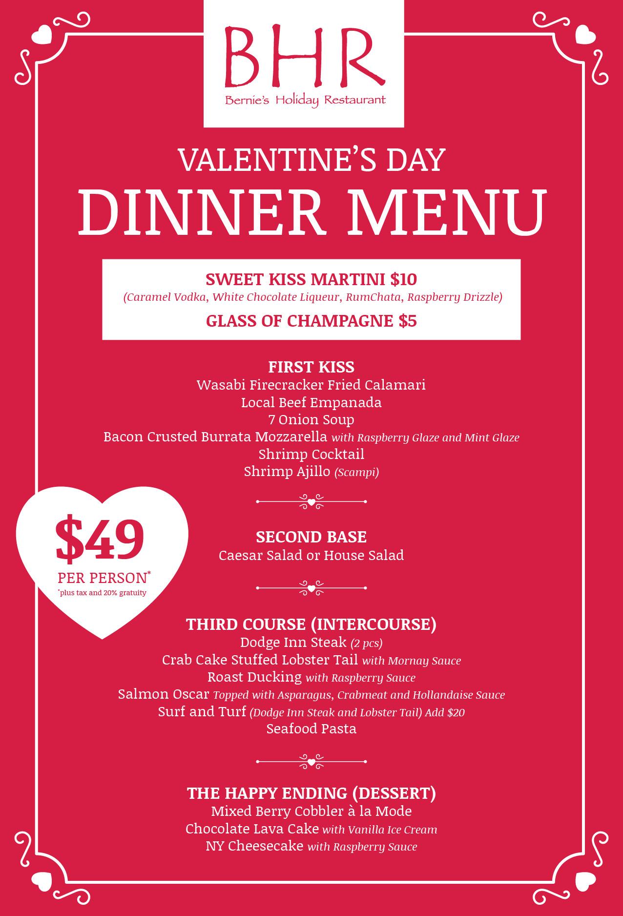 Valentines Dinner 2017  Valentine s Day Dinner 2017