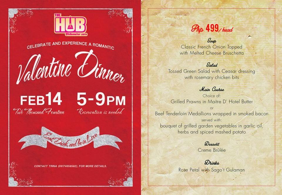 Valentines Dinner 2020  Piso Fare 2019 Promos Until 2020 Valentine Dinner at The HUB