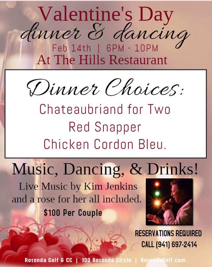 Valentines Dinner 2020  Rotonda Golf & Country Club