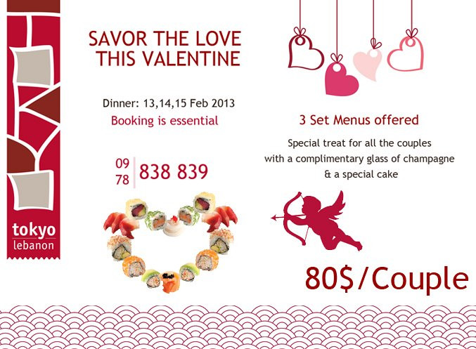Valentines Dinner 2020  Valentine Dinner Tokyo Lebanon Lebtivity