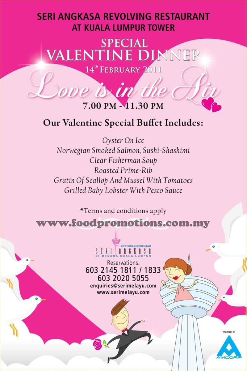 Valentines Dinner 2020  Food Street Seri Angkasa Revolving Restaurant Kuala