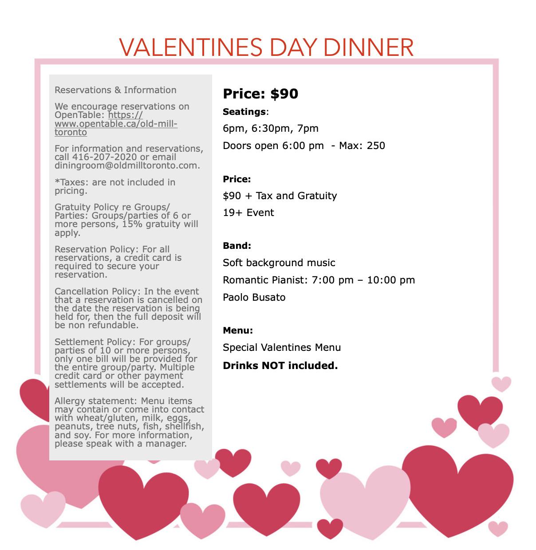 Valentines Dinner 2020  Valentines Day Dinner
