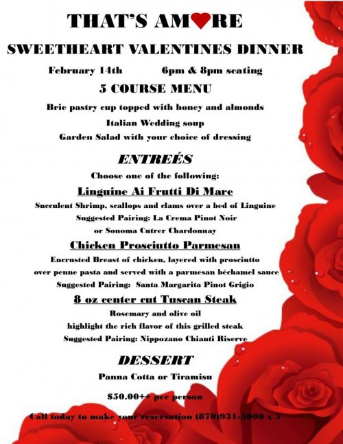 Valentines Dinner 2020  Valentines Dinner for Two