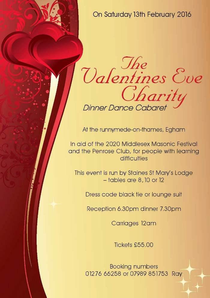 Valentines Dinner 2020  2020 Fund Raising Event Valentine s Eve Dinner Dance