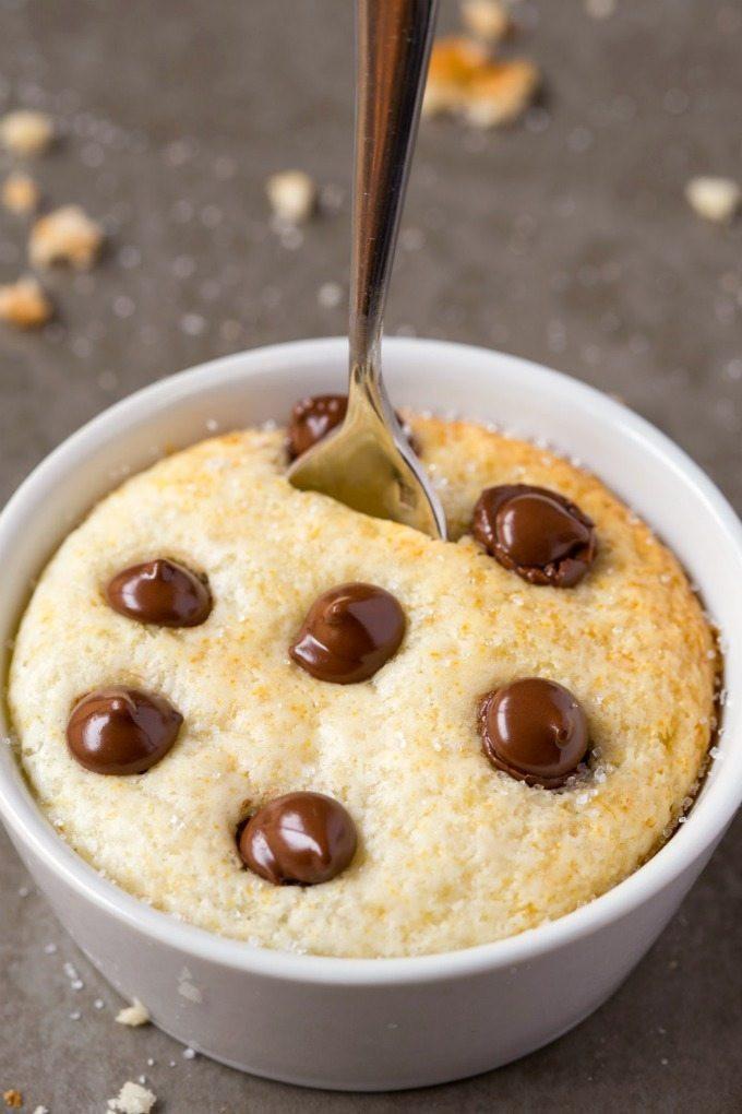 Vanilla Cake In A Mug  Healthy 1 Minute Low Carb Vanilla Mug Cake