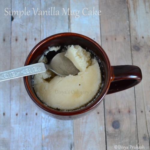 Vanilla Cake In A Mug  Divya s culinary journey Vanilla Mug Cake Recipe