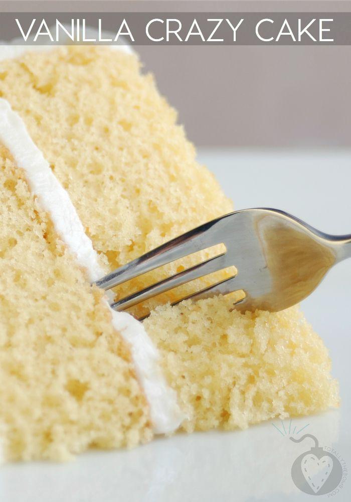 Vanilla Cake Recipe With Oil  Vanilla Crazy Cake