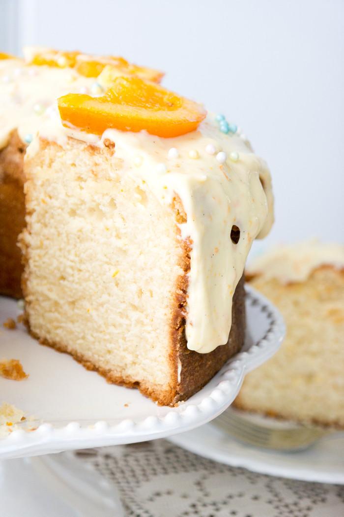 Vanilla Pound Cake Recipe  Orange Vanilla Sour Cream Pound Cake