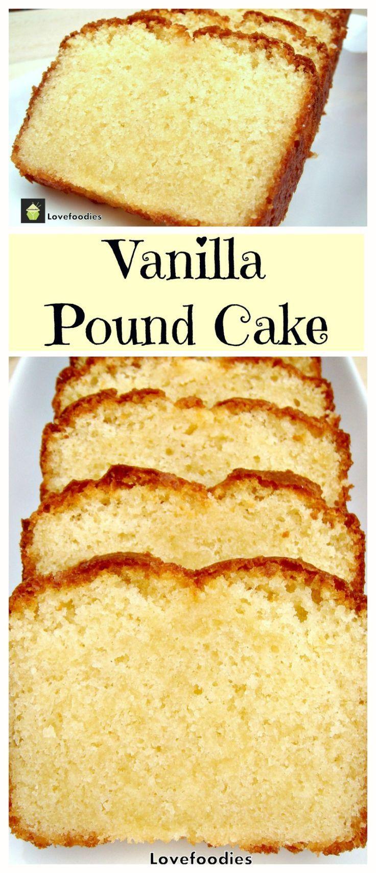Vanilla Pound Cake Recipe  vanilla cake recipe with oil instead of butter