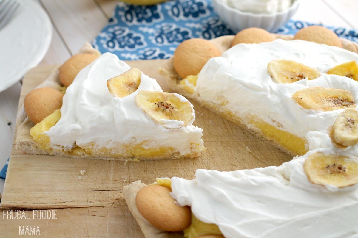 Vanilla Pudding Desserts  Frugal Foo Mama Banana Pudding Dessert Pizza