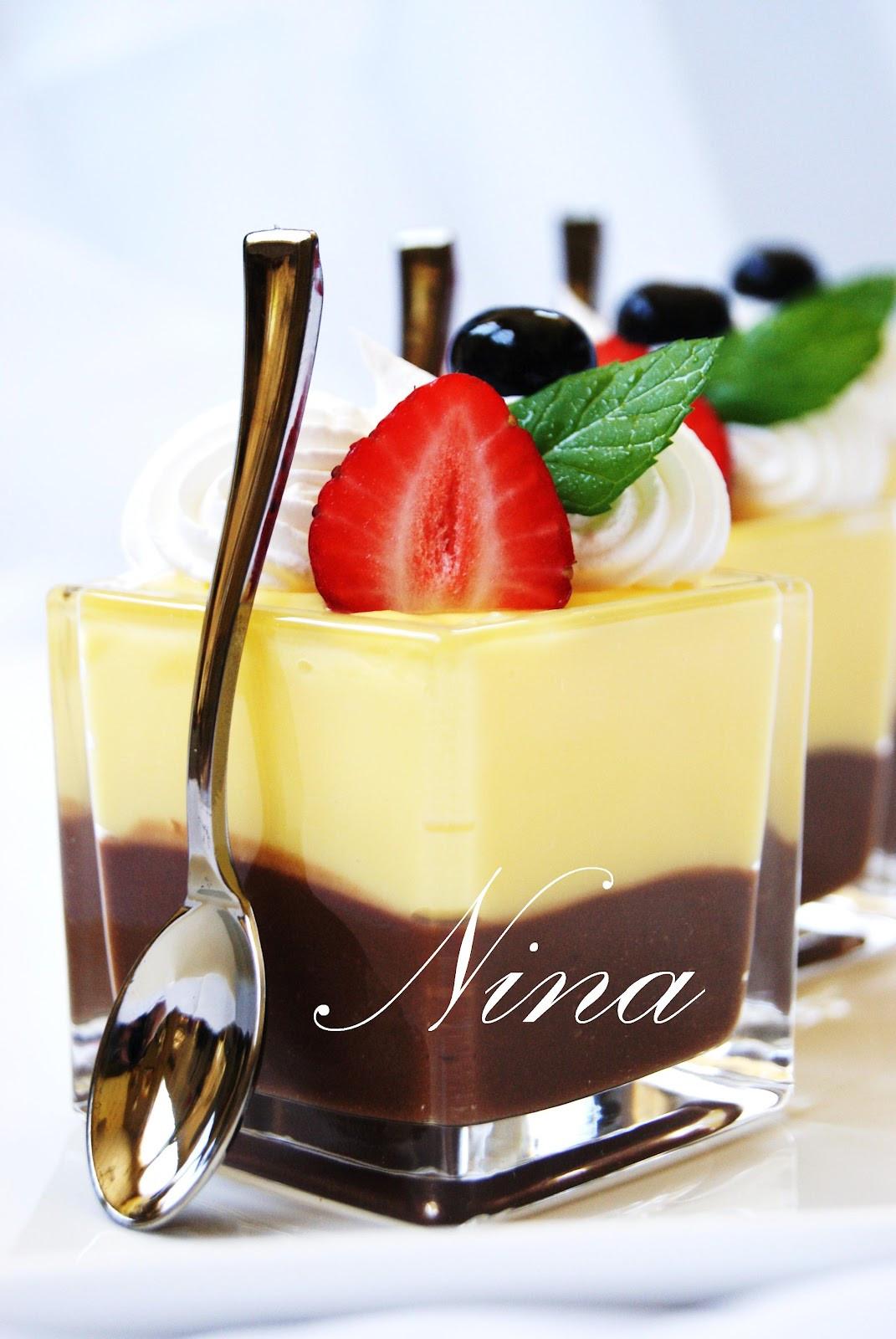 Vanilla Pudding Desserts  NINA S RECIPES CHOCOLATE AND VANILLA PUDDING DESSERT