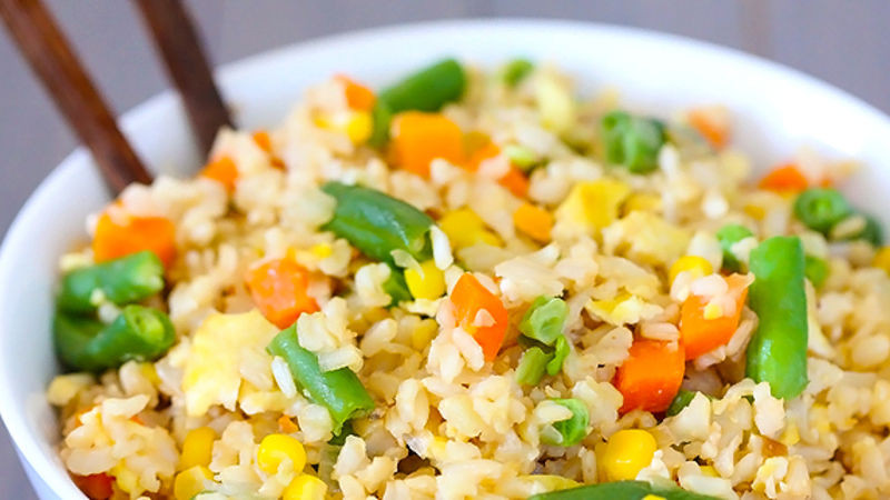 Veg Fried Rice  Ve able Fried Rice Recipe Tablespoon