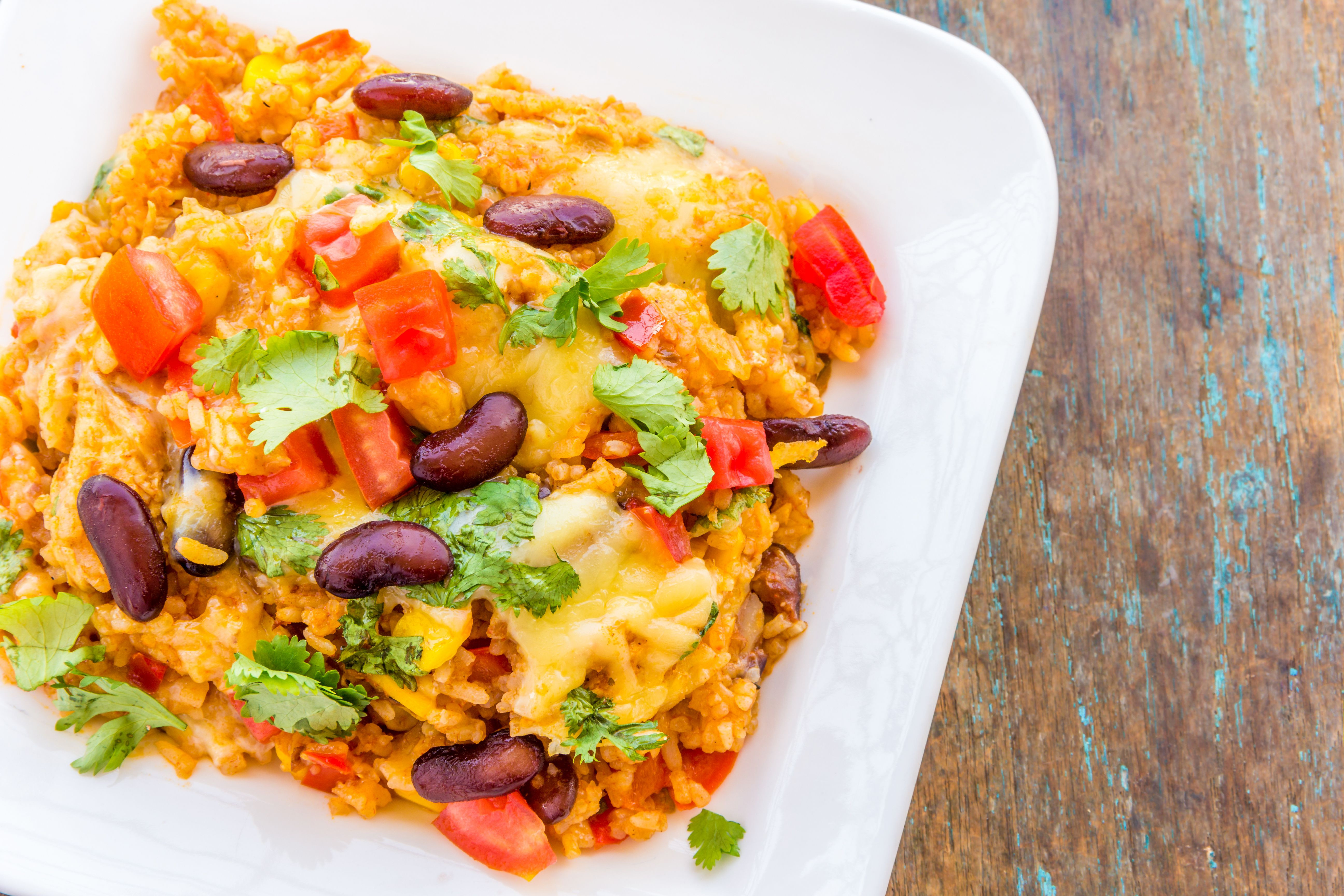 Veg Mexican Rice  Ve arian Mexican Casserole With Black Beans