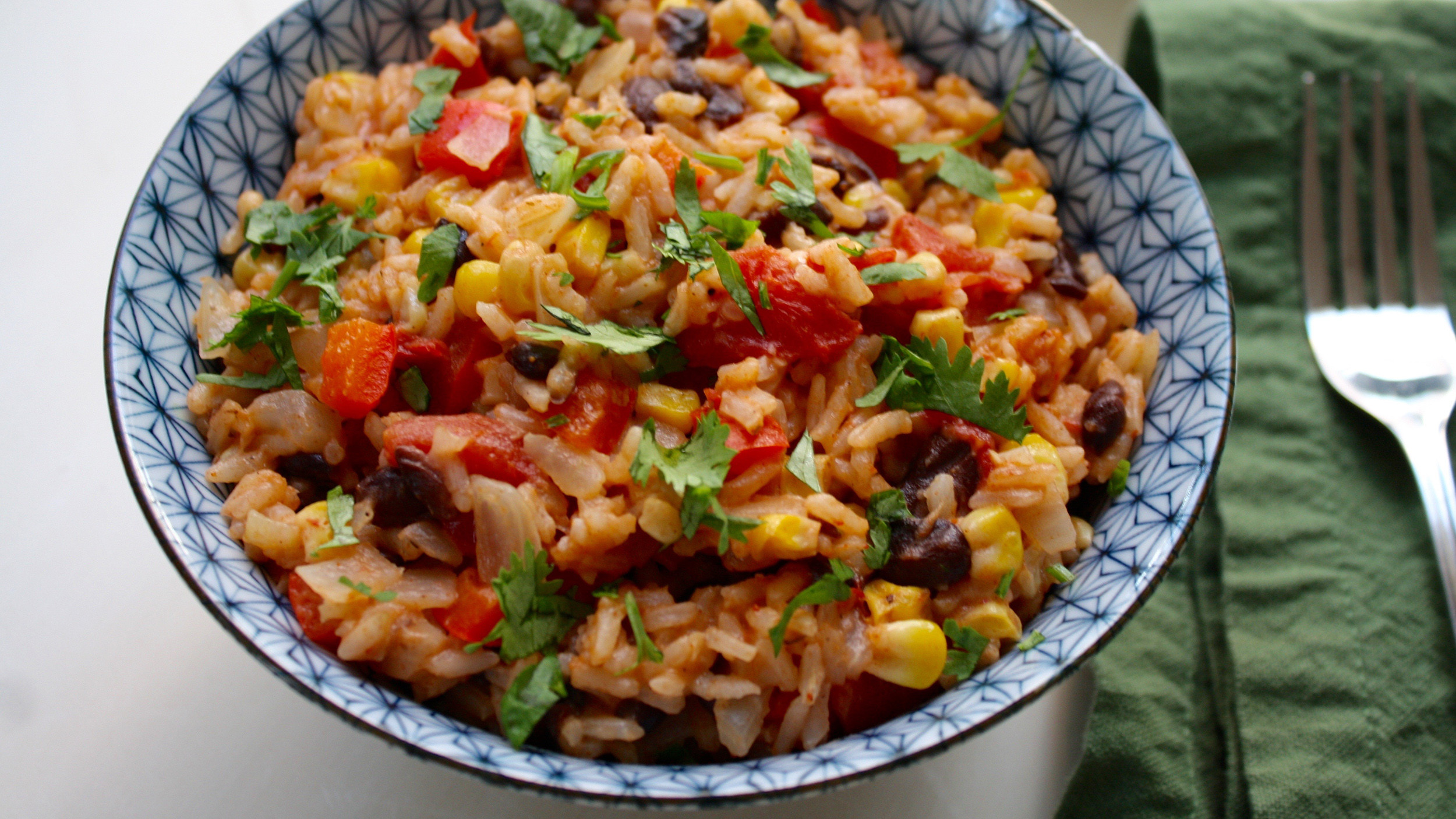 Veg Mexican Rice  ve arian spanish rice and beans