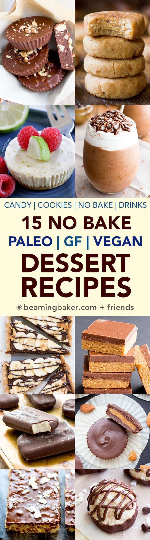 Vegan And Gluten Free Desserts  15 No Bake Paleo Vegan Desserts Gluten Free Dairy Free