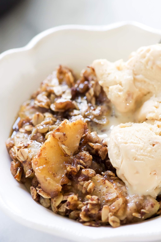 Vegan Apple Dessert  Caramel Apple Crisp Vegan Gluten Free With Salt and Wit
