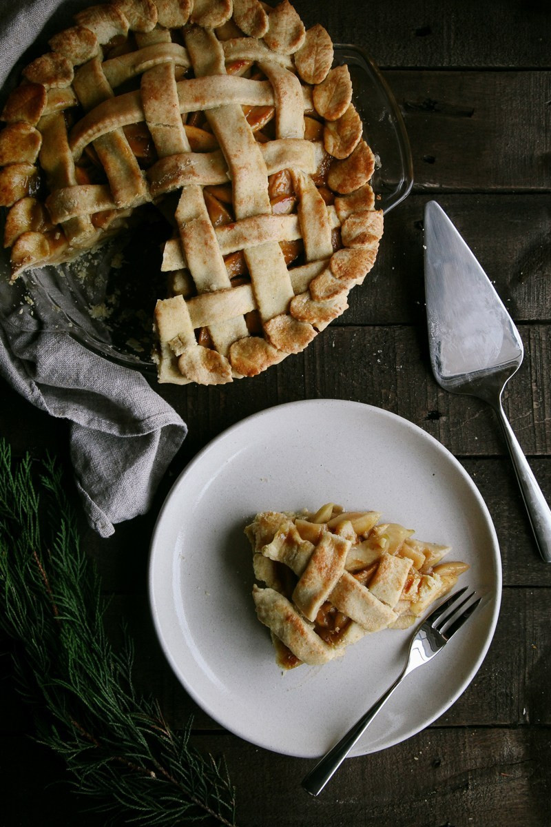 Vegan Apple Pie Recipe  Salted Caramel Apple Pie Vegan Wallflower Kitchen