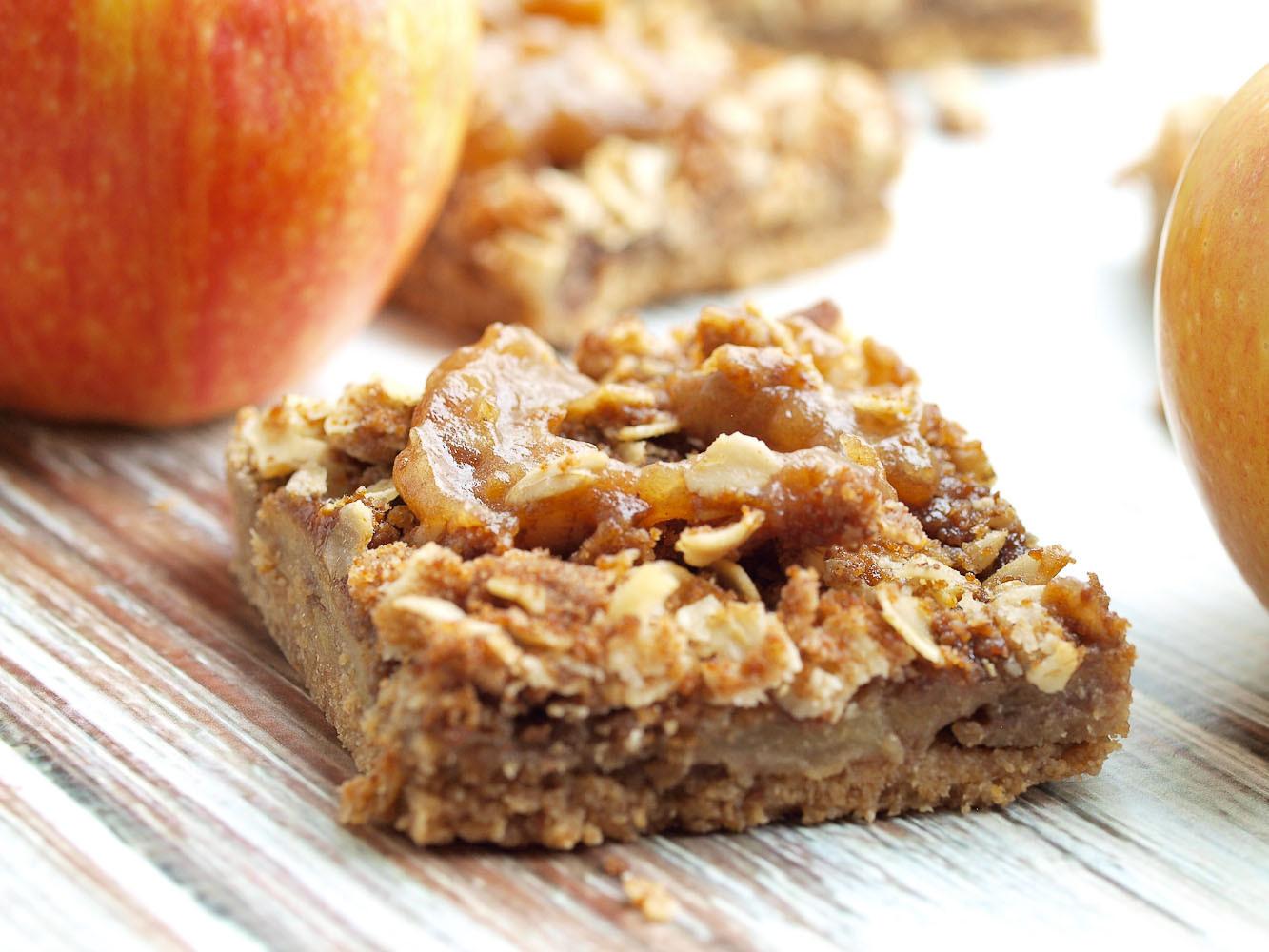 Vegan Apple Pie Recipe  Vegan Salted Caramel Apple Pie Bars Happy Healthy Mama
