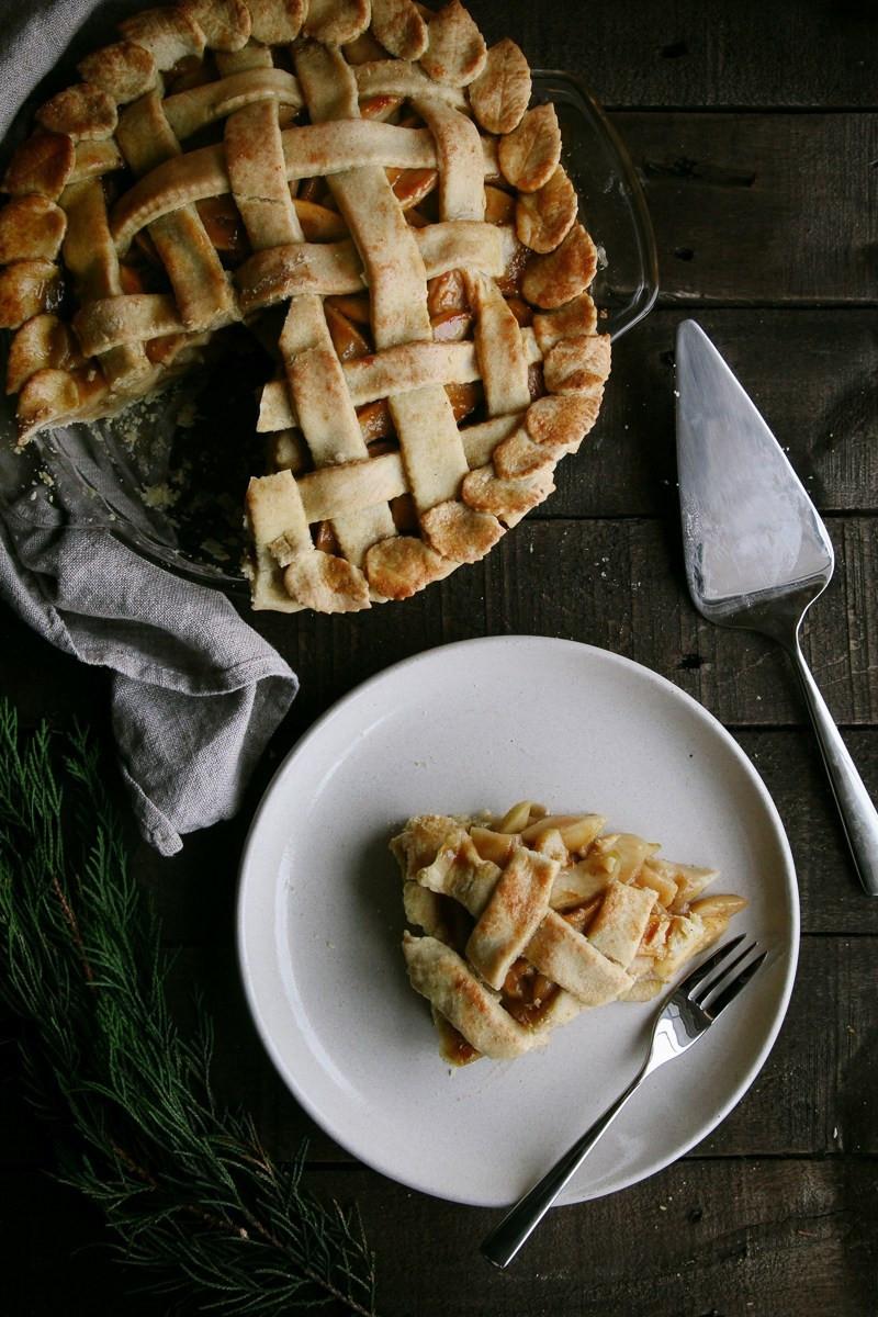 Vegan Apple Pie  Salted Caramel Apple Pie Vegan Wallflower Kitchen