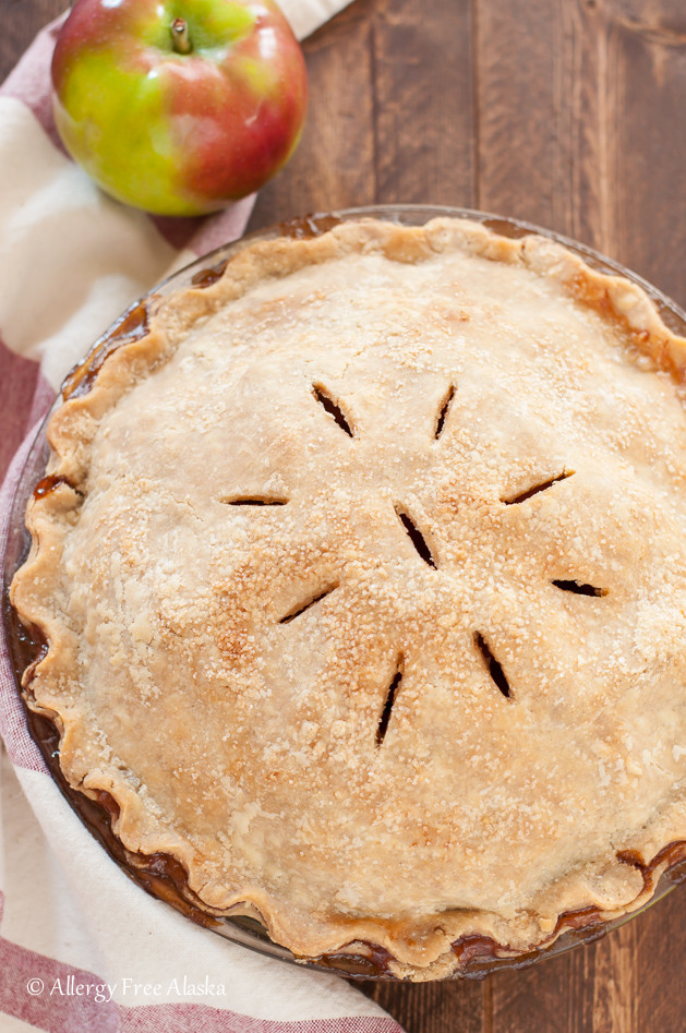 Vegan Apple Pie  recipe for gluten free vegan apple pie Allergy Free Alaska