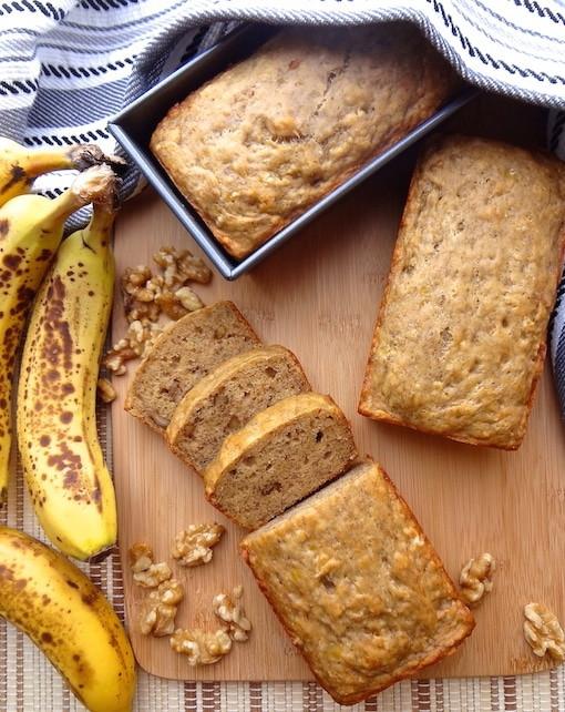 Vegan Banana Bread  Vegan Banana Bread w walnuts recipe Where You Get Your