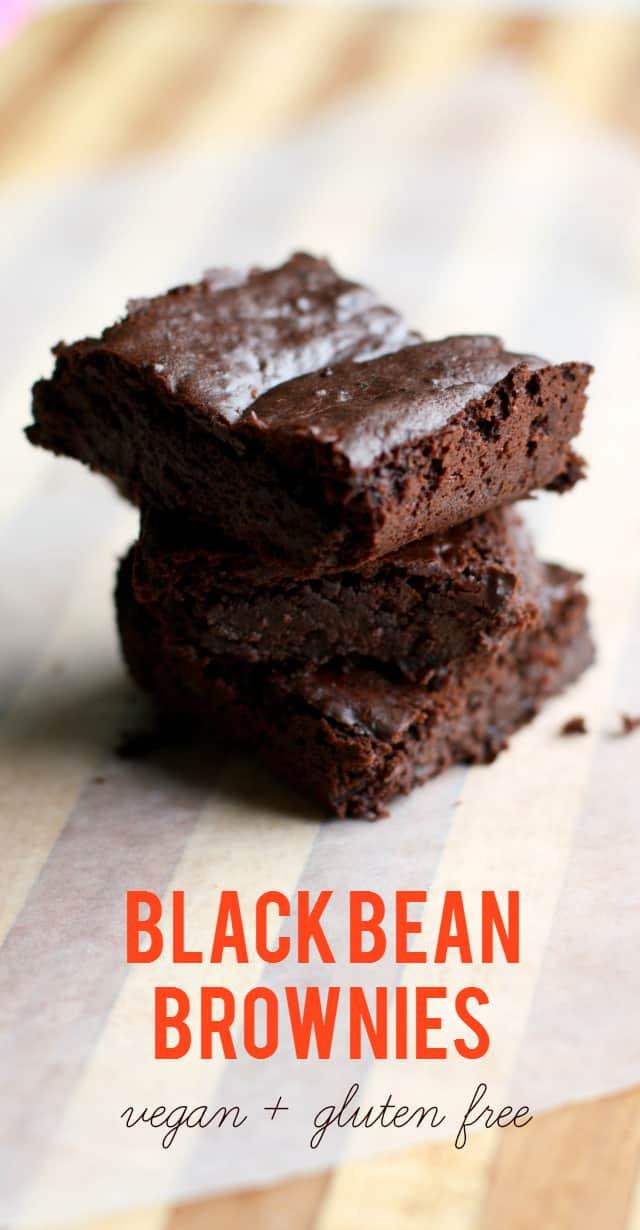 Vegan Black Bean Brownies  Gluten Free Vegan Black Bean Brownies The Pretty Bee