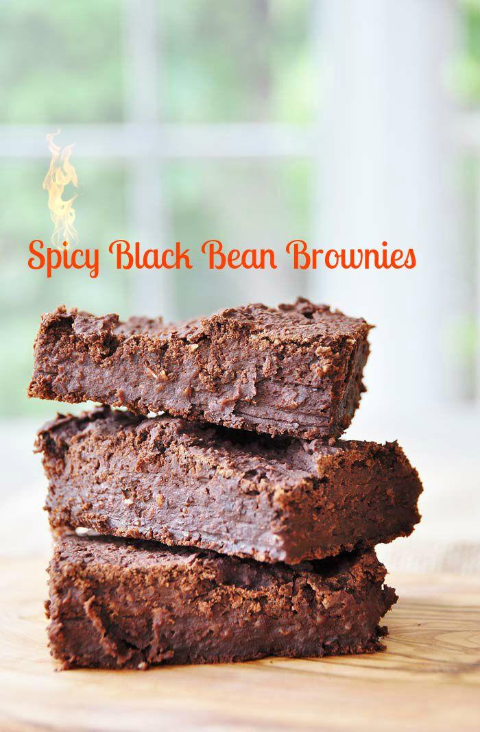Vegan Black Bean Brownies  Spicy Vegan Black Bean Brownies Veganosity