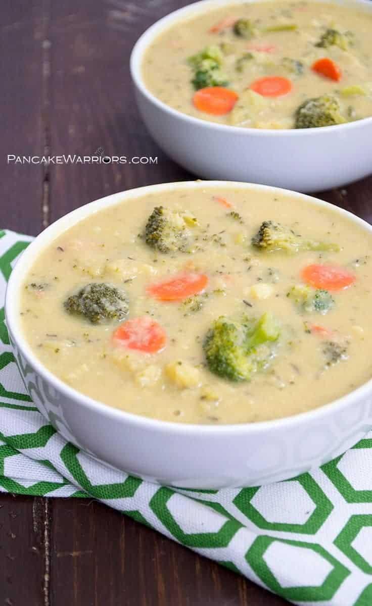 Vegan Broccoli Cheddar Soup  Vegan Broccoli Cheese Soup Dairy Free Gluten Free