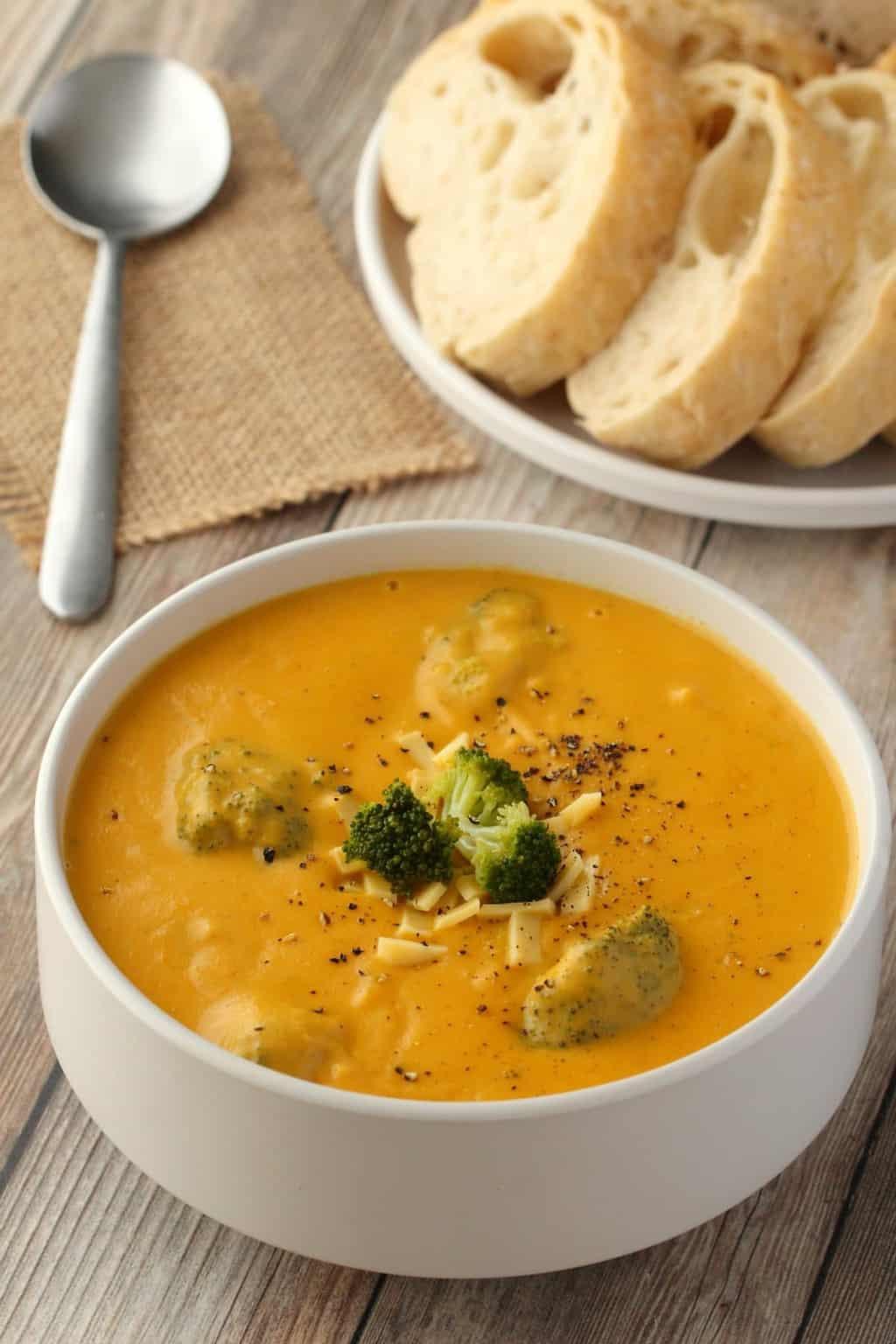 Vegan Broccoli Cheddar Soup  Vegan Broccoli Cheese Soup Rich and Cheesy Loving It