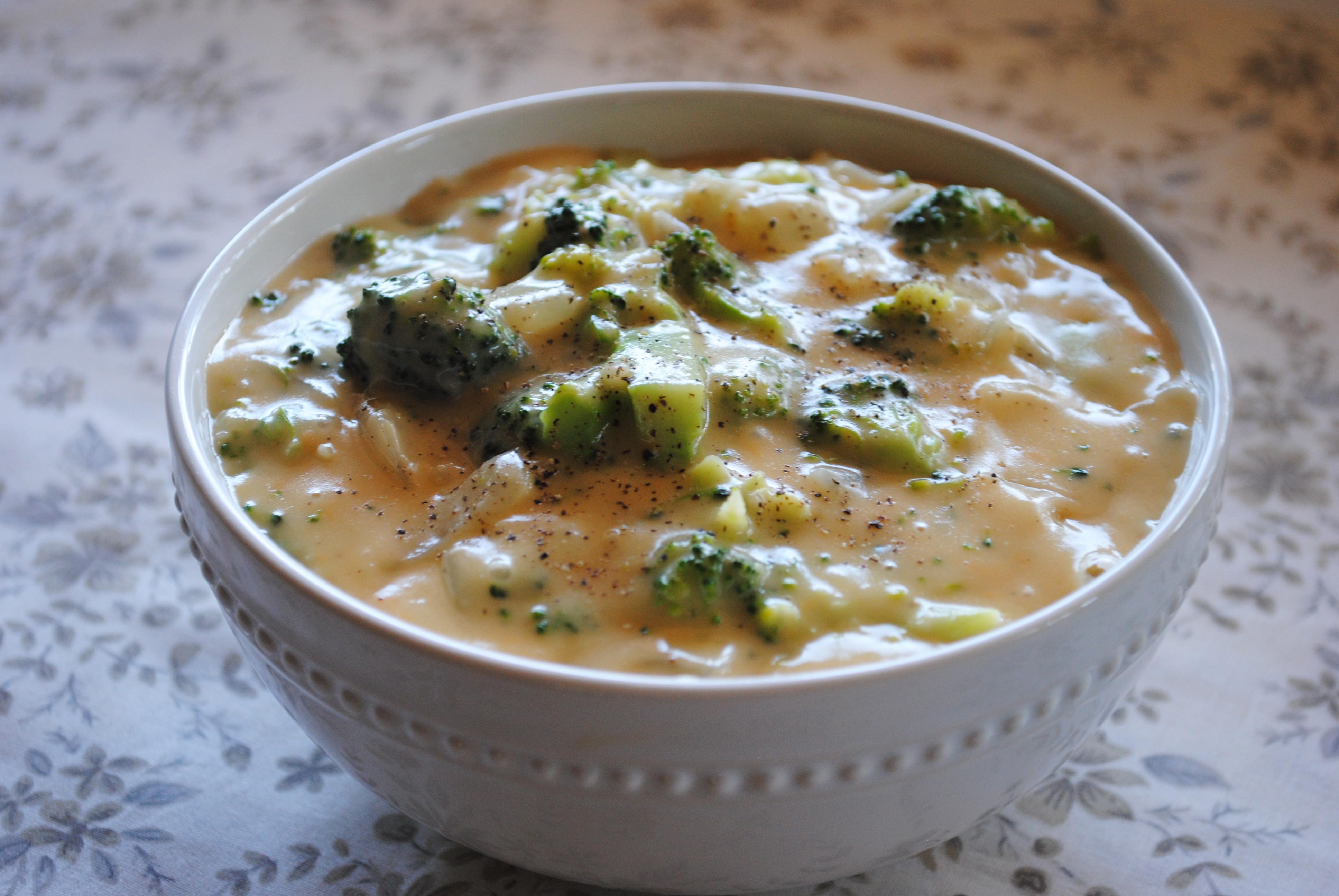 Vegan Broccoli Cheddar Soup  Creamy Broccoli Cheese Soup