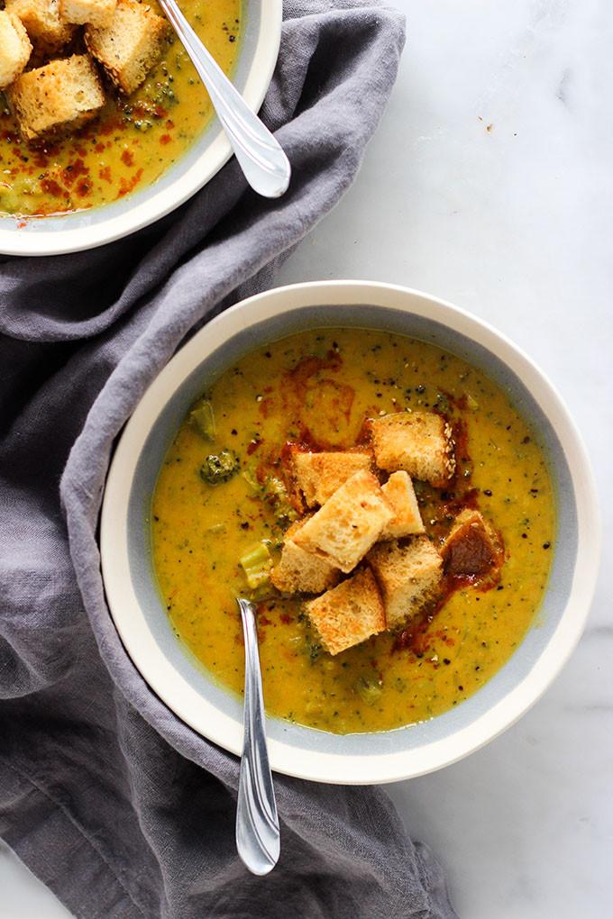 Vegan Broccoli Cheddar Soup  Vegan Broccoli Cheddar Soup