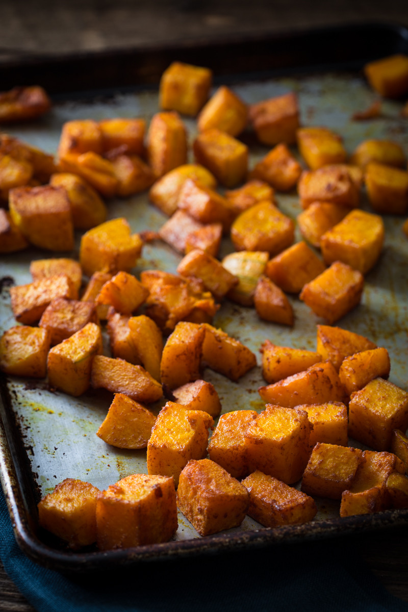 Vegan Butternut Squash Recipes  roasted butternut squash with smoked paprika and turmeric