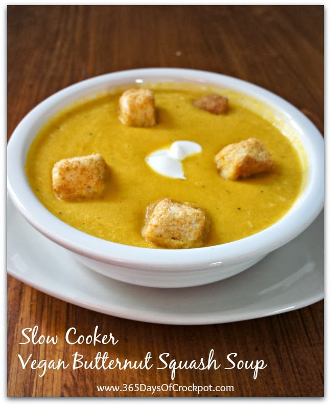 Vegan Butternut Squash Soup  Recipe for Vegan Slow Cooker Butternut Squash Soup 365