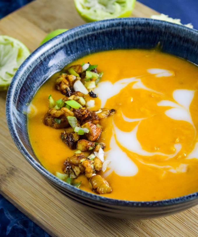 Vegan Butternut Squash Soup  Thai Roasted Butternut Squash Soup Recipe