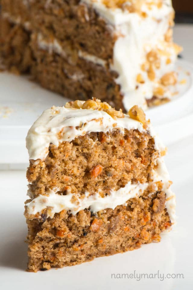 Vegan Carrot Cake Recipe  Classic Vegan Carrot Cake Recipe Namely Marly