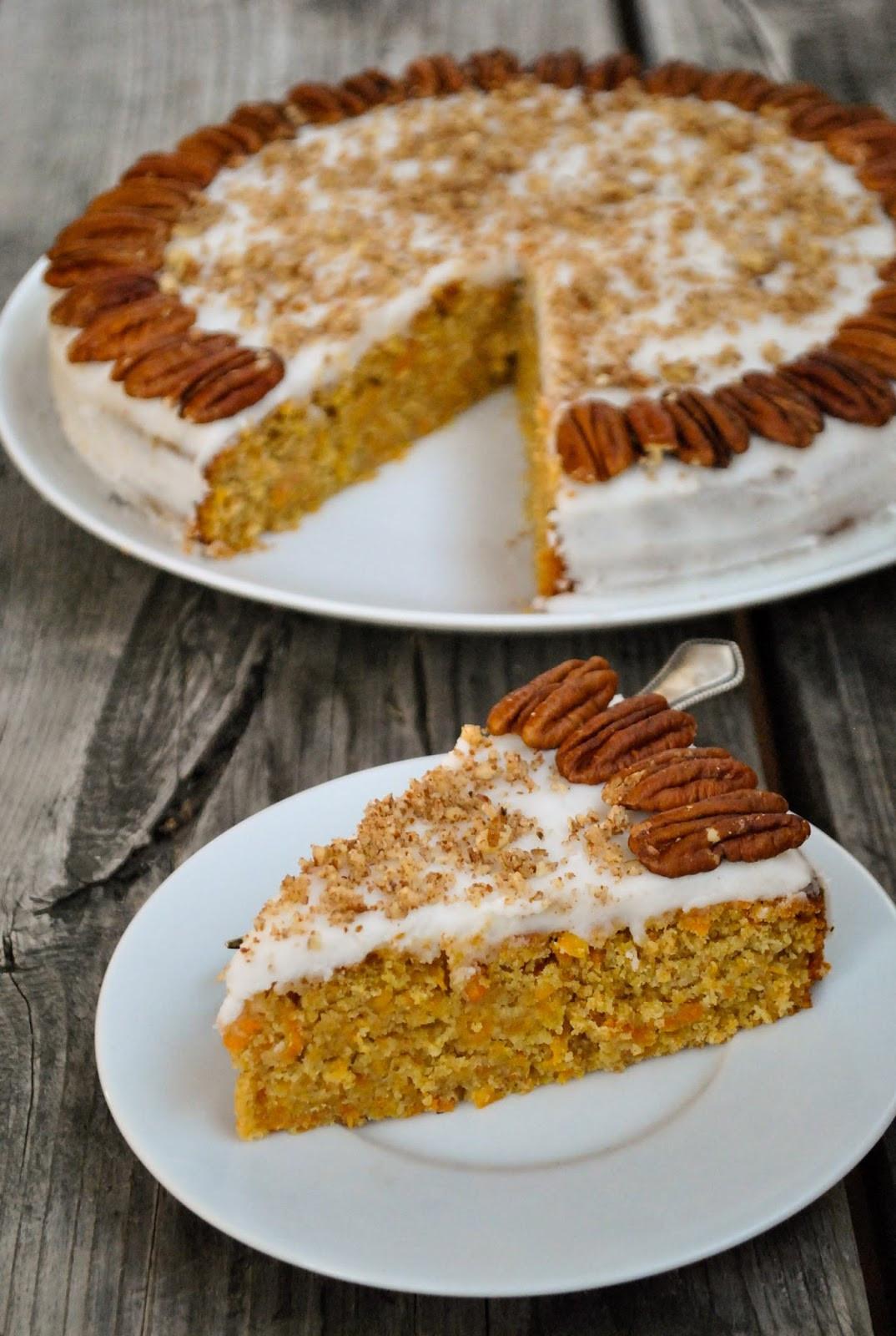 Vegan Carrot Cake Recipe  Vegan carrot cake VeganSandra