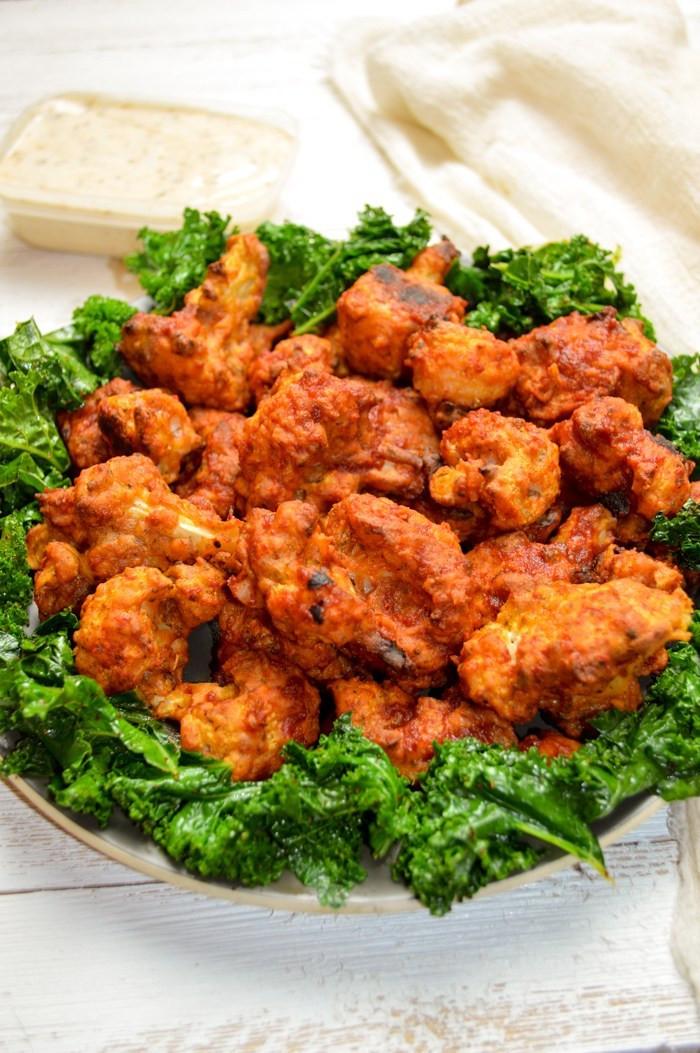 Vegan Cauliflower Wings  Crispy Cauliflower Hot Wings vegan and gluten free