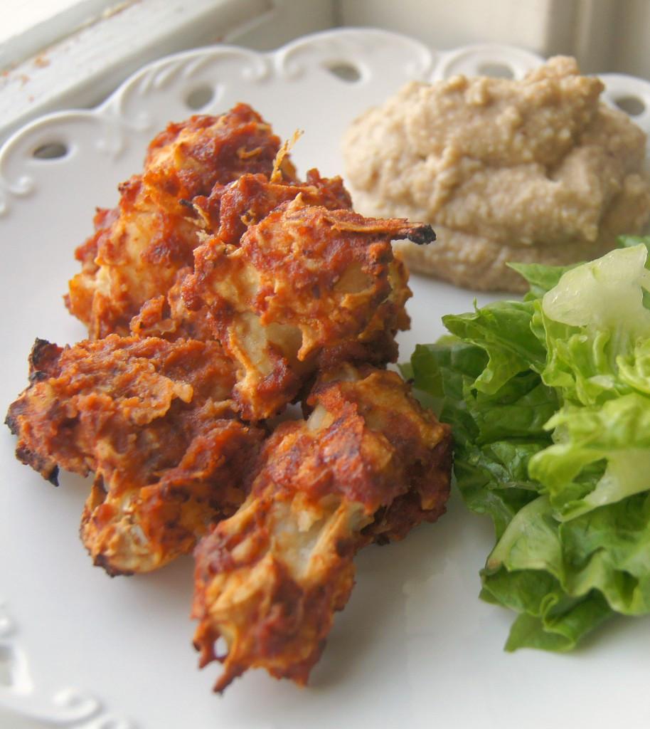 """Vegan Cauliflower Wings  Vegan Cauliflower BBQ """"Wings"""" with Cashew Blue Cheese Dip"""
