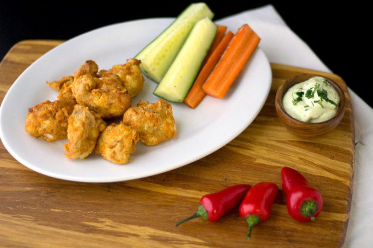 Vegan Cauliflower Wings  Vegan Cauliflower Wings and vegan ranch