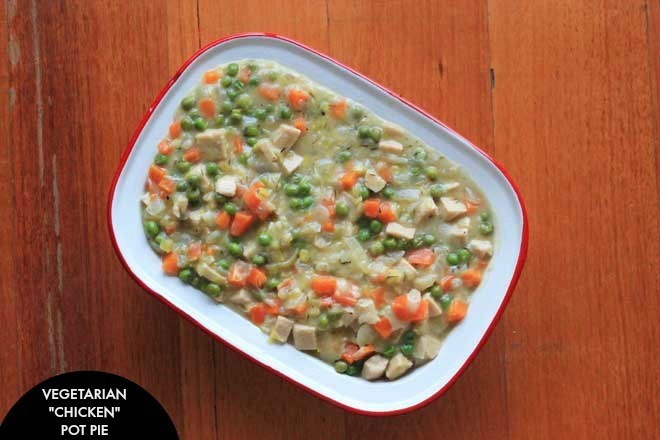 "Vegan Chicken Pot Pie  Ve arian ""Chicken"" Pot Pie"